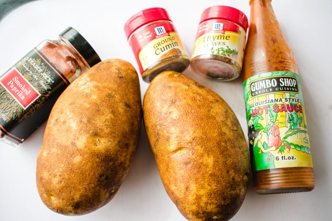 ingredients for potato wedges